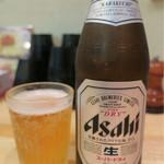 麪家 ひばり - 201609 瓶ビール(500円)