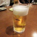 あずまし亭 - 生ビール2016.09.26