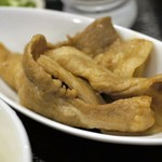 うどん sugita - 甘辛く炊かれた豚バラ肉は厚手で食べ応えあり