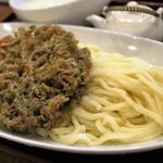 うどん sugita - 五色かき揚げ 肉入り ぶっかけうどん  1,100円