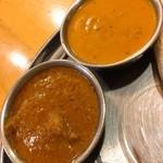 ガンディーマハル - バターシュリンプとラムカレー