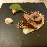 イル・ヴィゴーレ - フランス産鴨胸肉のロースト 牛蒡のフリットとアイヨリバルサミコ