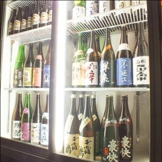 日本酒にこだわる東北銘酒を中心に30種以上常備