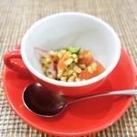 ペペロッソ - ファッロ(スペルト小麦)と野菜のマリネ