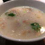 焼肉 稲田 - 牛テールスープ