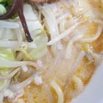 九州とんこつの うま馬 - スープの感じ。                         28.9.21