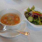 56609645 - スモールサラダ                       スープ