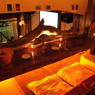 流木に貝殻のシャンデリア ちょっと横浜にはない洒落た隠れ家空間 ..