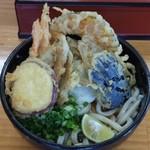 羽立 - 野菜天ぶっかけ大(750円)