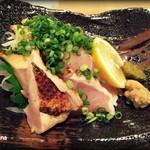 串と煮込み 門限やぶり - 地鶏たたき 720円