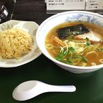青竹打ちラーメン 一力 - チャーハンセット醤油ラーメン(900円)