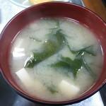 竹内食堂 - 味噌汁