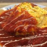 56617469 - 岡崎おうはん卵のオムライス(フレッシュトマトソース)