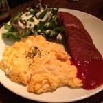 にらいかない - ポークランチョンミートと卵の炒め物