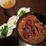銘鶏やき鳥 鳥仙 - 鶏まぶし飯(小)