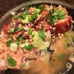 銘鶏やき鳥 鳥仙 - スープをかけて