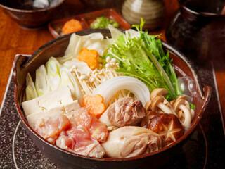 あくとり代官 鍋之進 - 土佐はちきん地鶏の水炊き鍋