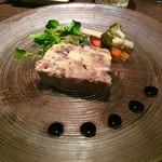 56622329 - 「鴨とサツマイモのテリーヌ」?(1458円)。ロイホの方が美味しかった。