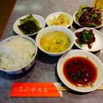 千久左 - 韓国スタイルで、最初にこれだけ出て来ます ※あみ焼き定食1000円(税込)より