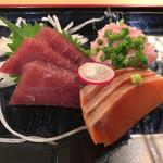 まる徳 - お刺身3点盛定食