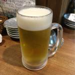 徳田酒店 - 生ビール〜( ◠‿.◠ )ノ¥390円