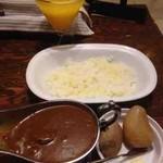 ペルソナ - ダブルミックス(ビーフ、ホタテ)、マンゴージュース