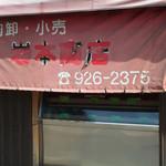 岩本商店 - 店前の日除けテント うんっ 歴史を感じるね。