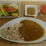 ベジフルカレー 福島駅前店 - 七種のいろどり野菜カレー+大豆ミート