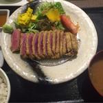 gyuukatsutonkatsujojokichi - 2016.09.26             サーロイン牛かつ膳