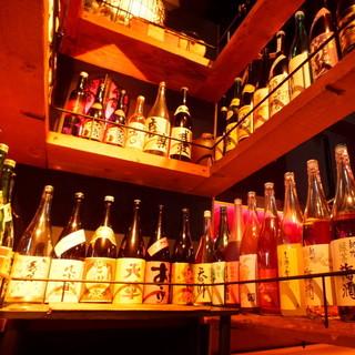酒屋敷自慢のお酒のセラーです!!常時50種類以上!!
