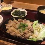 56646200 - 日替わりサービス定食 豚の生姜焼き(¥750)