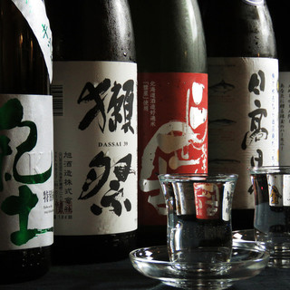 二世古,まる田等の道産酒はじめ日本酒も豊富にご用意