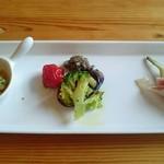 イタリア式食堂 ブラン - 前菜 三種盛り。