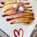 エッグチキン - 昔風トマトケチャップのオムライス