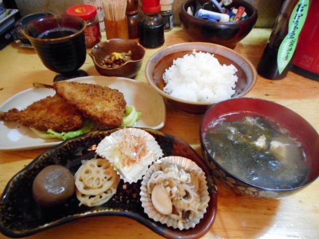 可ぶら家 - 魚定食(アジフライを選択)650円