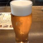 蕎麦の実 - 生ビール中(400円)
