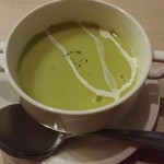 街の洋食屋 AKIRA - 料理写真:枝豆の冷たいスープ