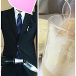 シェムラブルリス - イケメンのギャルソン♡に注いでいただき…乾杯です(^-^)/