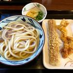丸亀製麺 - 冷かけ&かしわ天・ちくわ天