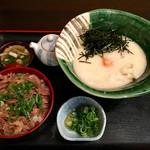 瀬戸内製麺710 - 山かけ生醤油&牛めしセット