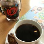 炭焼きレストランさわやか - 乾杯ドリンクとコーヒー