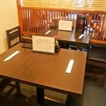 うなぎ料理 よね山 - 店内(テーブル席)