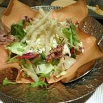蒸し茶家 自然の中で・・・ - (2011.4)サラダ