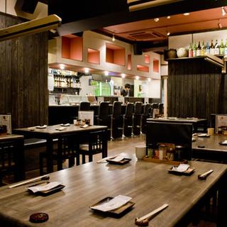 他のお客様に気兼ねすることなくお食事を楽しめる空間