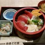 海鮮料理魚春とと屋 - ランチちらし寿司800円税込