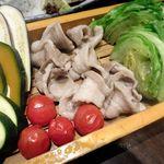 56674236 - もち豚と野菜のへぎ蒸し