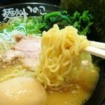 麺処いのこ - 麺は西山製麺さん