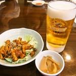石松餃子 - 生ビール & みそホルモン