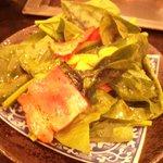お好み焼き 悠遊亭 - ほうれん草のサラダ