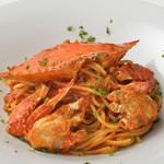 北海道イタリアン ミアボッカ - 名物!渡り蟹のトマトソース